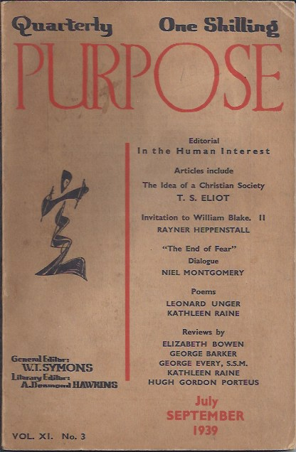 Image for Purpose, Vol. XI No. 3, July-September 1939