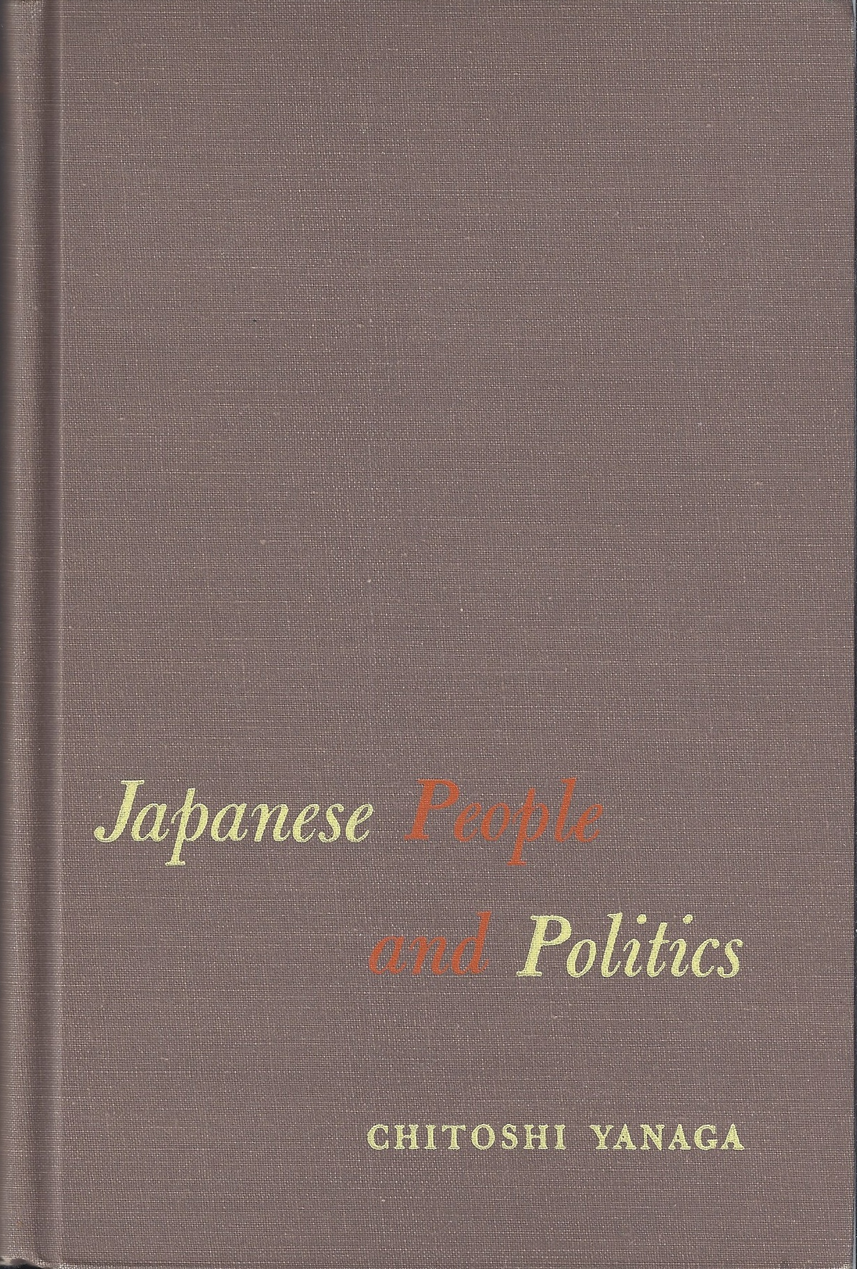 Image for Japanese People and Politics