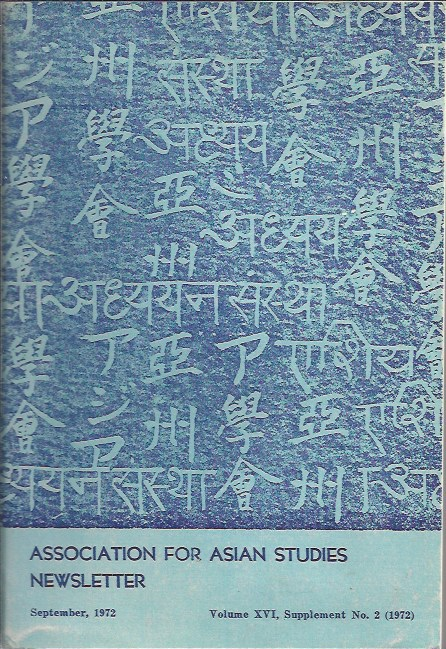 Image for Reprints and Microform Materials in Asian Studies Newsletter of the Association for Asian Studies, Volume XVI, Supplement No. 2, September 1972