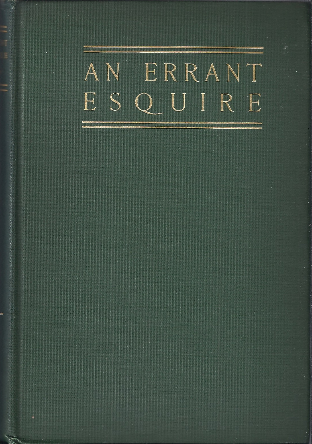 Image for An Errant Esquire A Romance of the Conquest of Wales