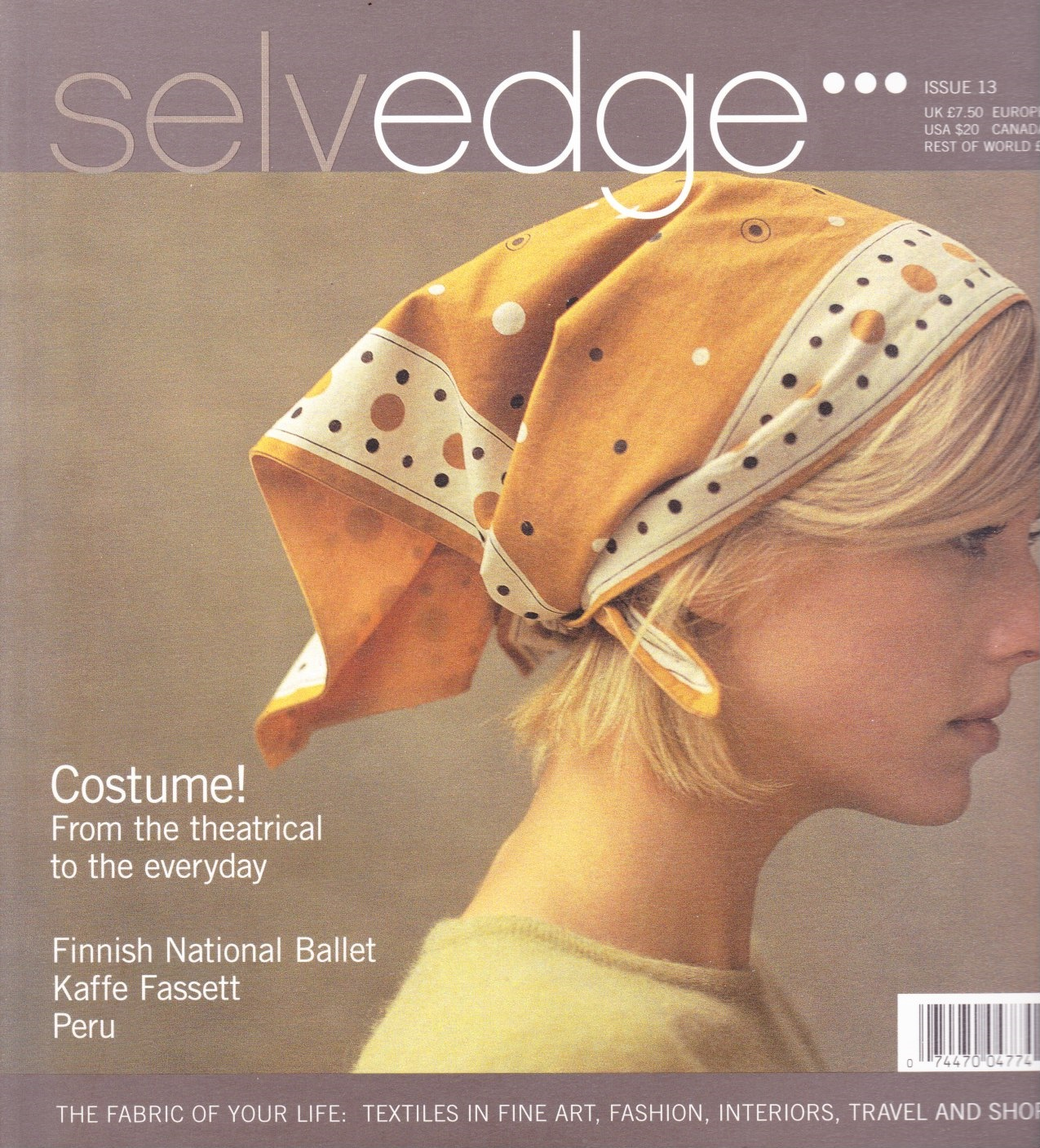 Image for Selvedge Magazine, September 2006, Issue 13 The Costume Issue