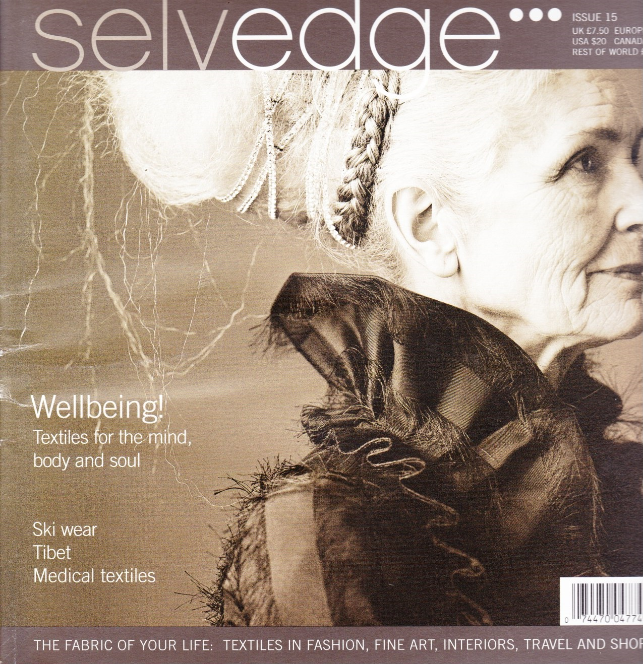 Image for Selvedge Magazine, January 2007, Issue 15 The Wellbeing Issue